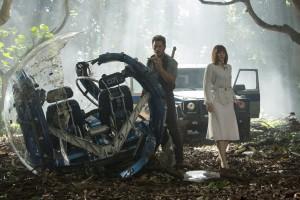 Chris Pratt e Bryce Dallas Howard in Jurassic World