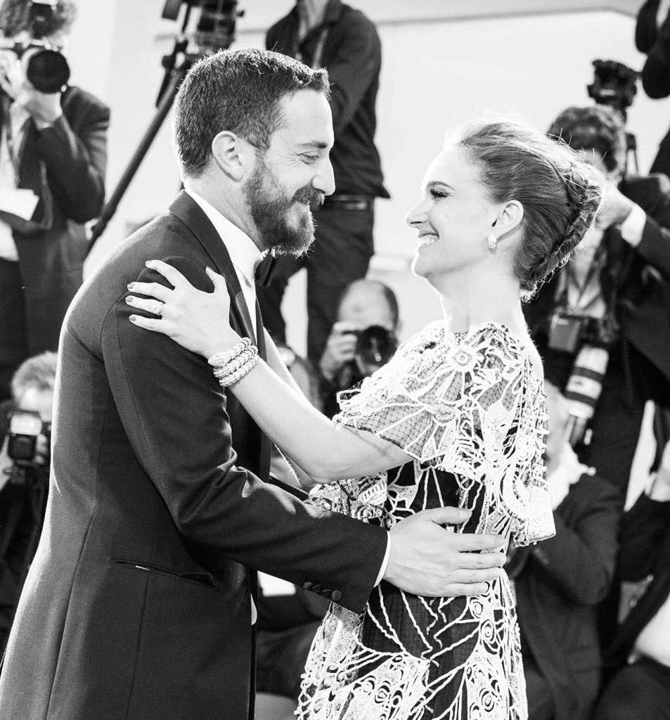 Natalie Portman e il regista Pablo Larrain
