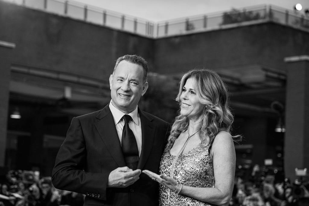 Tom Hanks e la moglie Rita wilson