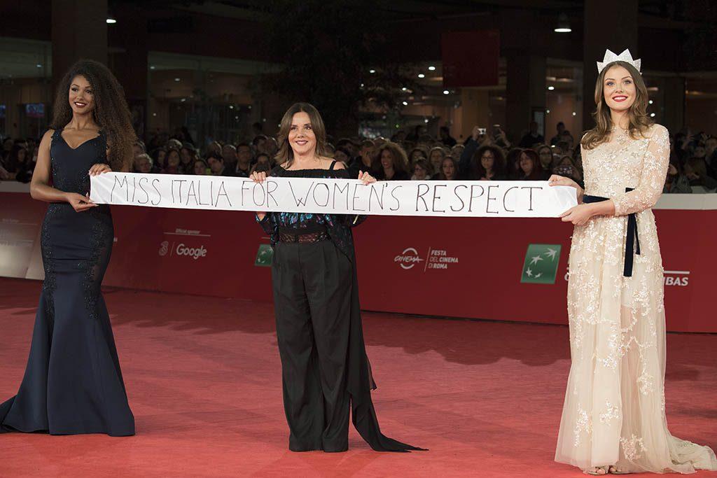 Miss Italia Alice Arlanch con Patrizia Mirigliani e Samira Lui