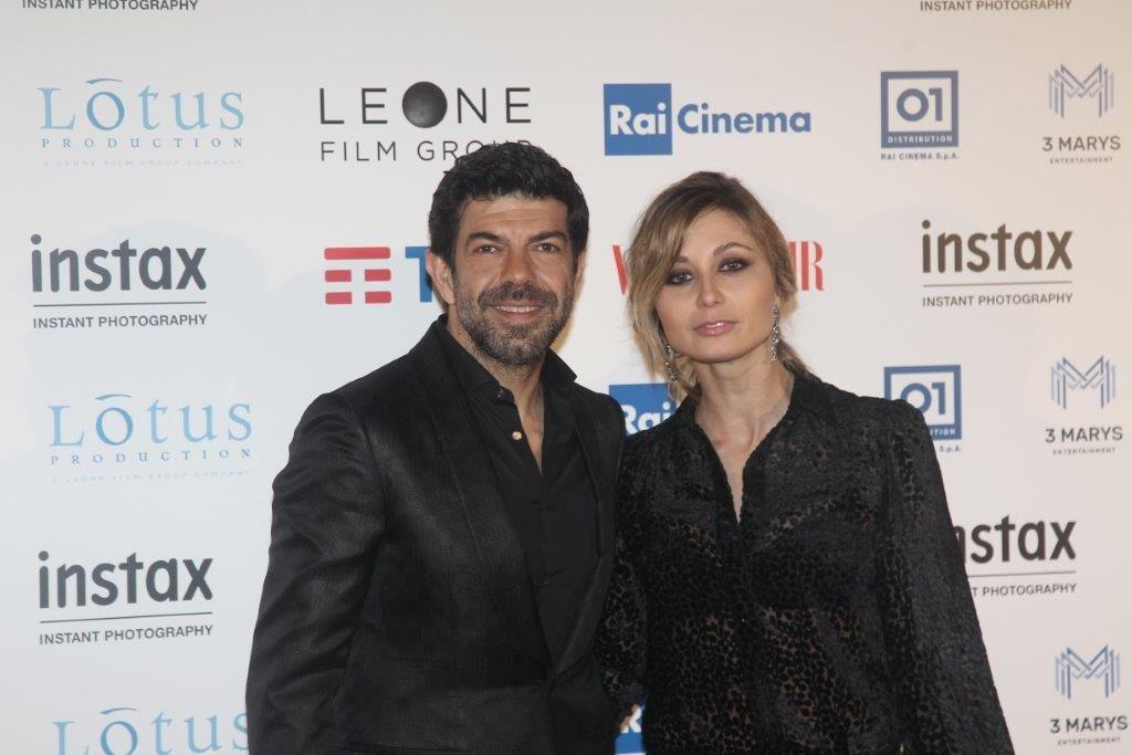 Pierfrancesco Favino con la moglie Anna Ferzetti