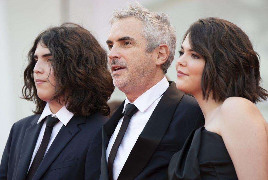 Alfonso Cuaron con i figli