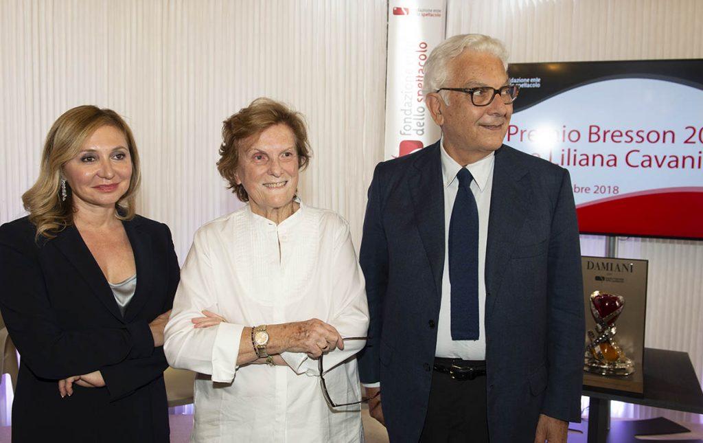 Paolo Baratta Silvia Damiani e Liliana Cavani