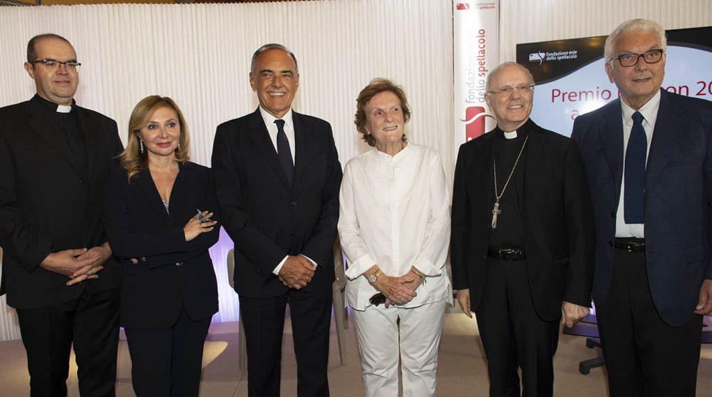 Paolo Baratta Silvia Damiani Monsignor Milani Alberto Barbera e Liliana Cavani