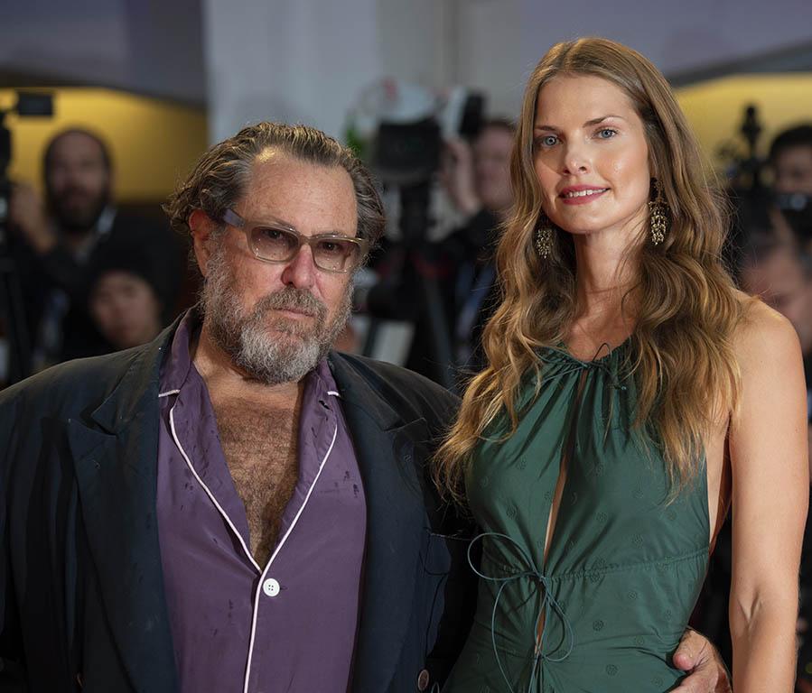 Julian Schnabel e sua moglie