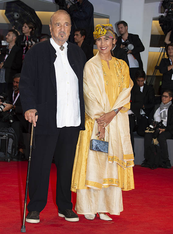 Jean-Claude Carriere e sua moglie