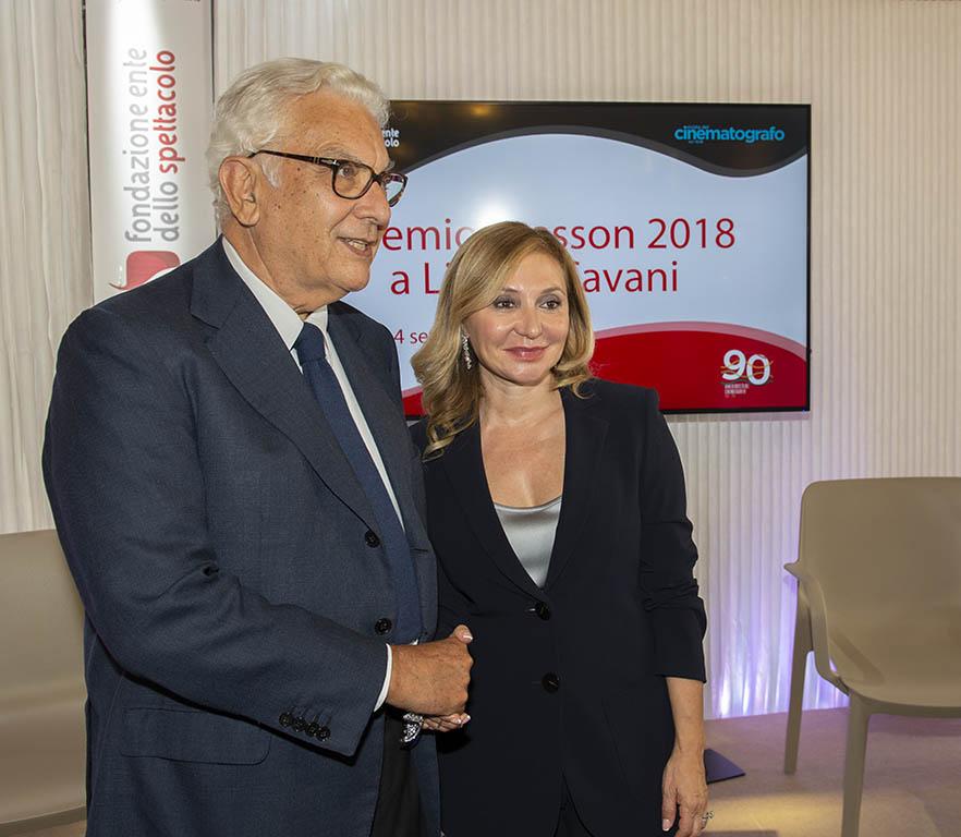 Paolo Baratta e Silvia Damiani