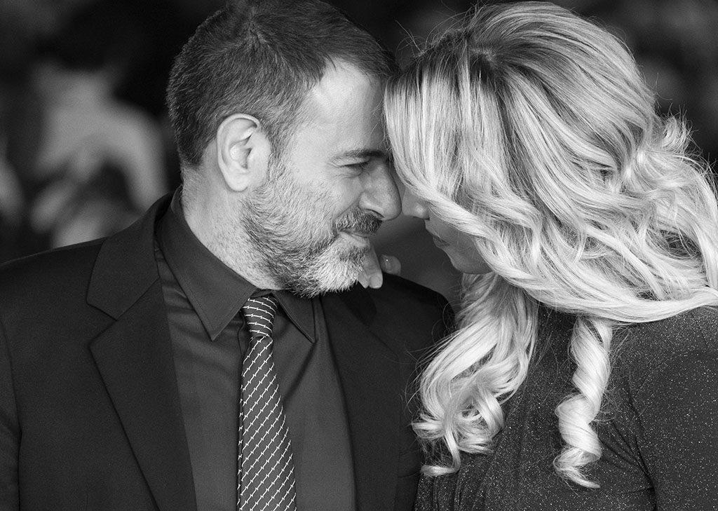 Fausto Brizzi e sua moglie