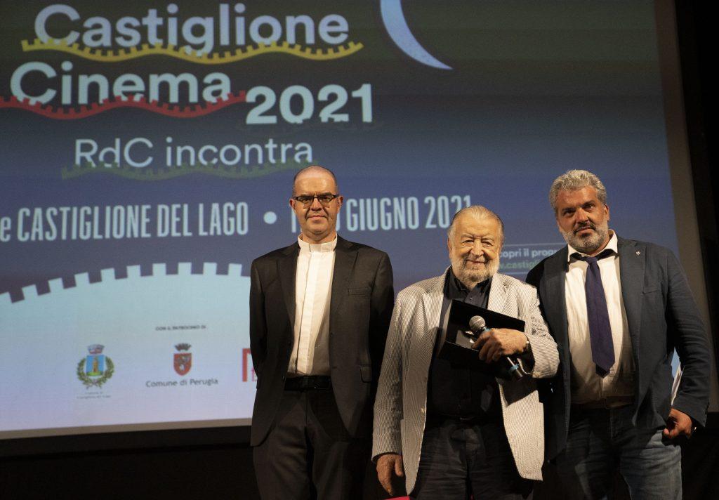 da sinistra: mons. Davide Milani, Pupi Avati e Gabriele Giottoli (foto di Karen Di Paola)