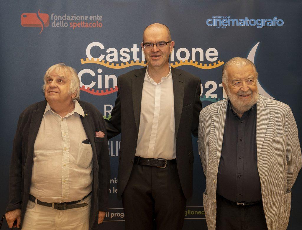 da sinistra: Antonio Avati, mons. Davide Milani e Pupi Avati (foto di Karen Di Paola)